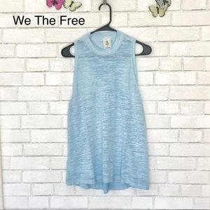 We The Free Crew Tank Top Racer-back Burnout Tee